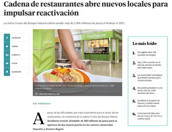 Cadena de restaurantes abre nuevos locales para impulsar reactivación